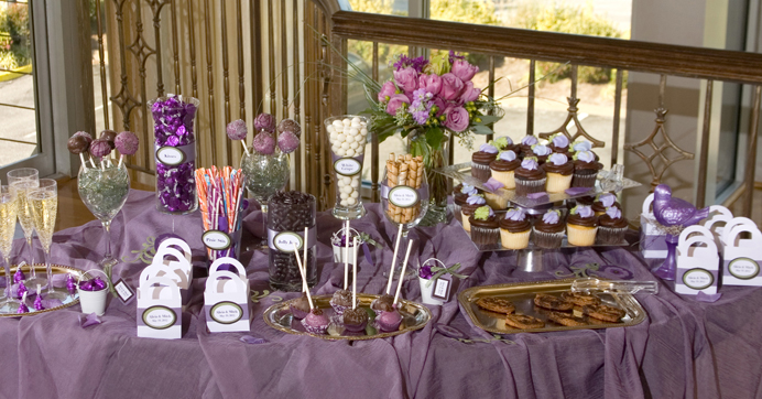 Candy and Dessert buffet for your wedding reception