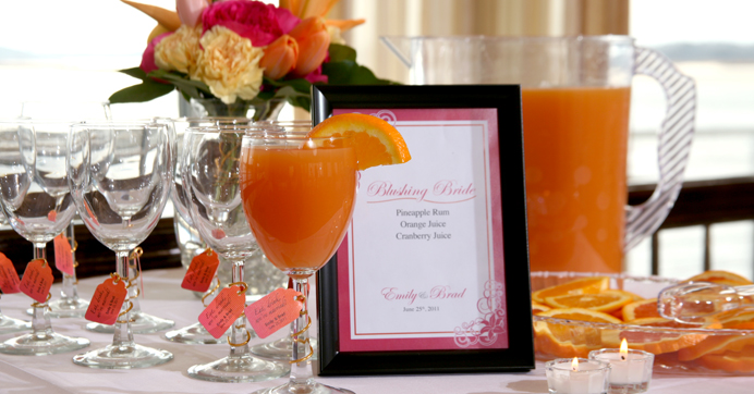 Signature Cocktails Reception Idea