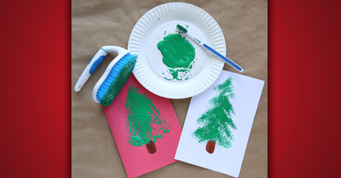 Create Christmas Tree Cards with Your Family