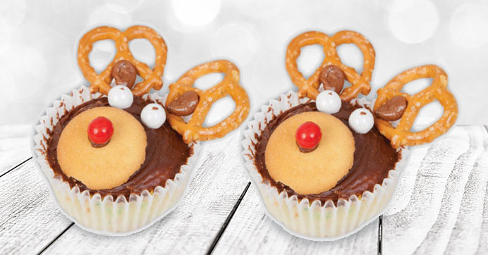 Reindeer Cupcakes for Your Holiday Party