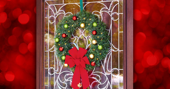 DIY Garland & Ornament Wreath for Under $15