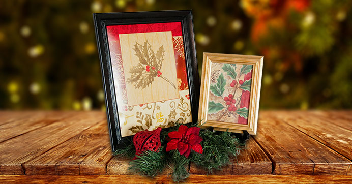 Framed Christmas Gift Bags