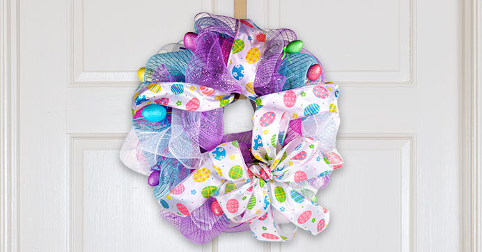 Create an Easter Deco Mesh Wreath