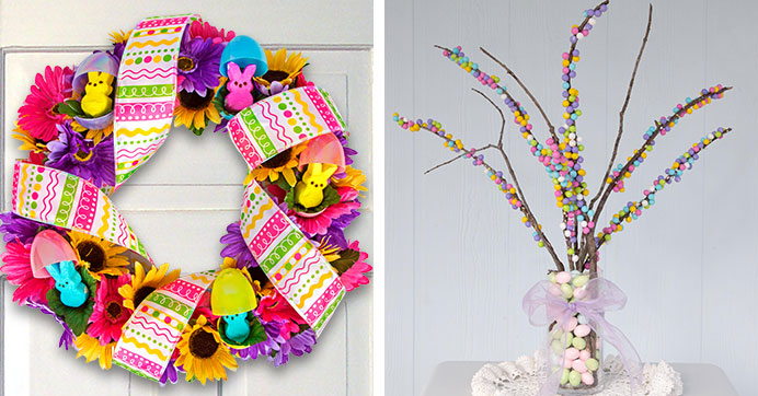 Easter EGGstravaganza! Peeps® Wreath and Candy Centerpiece Ideas
