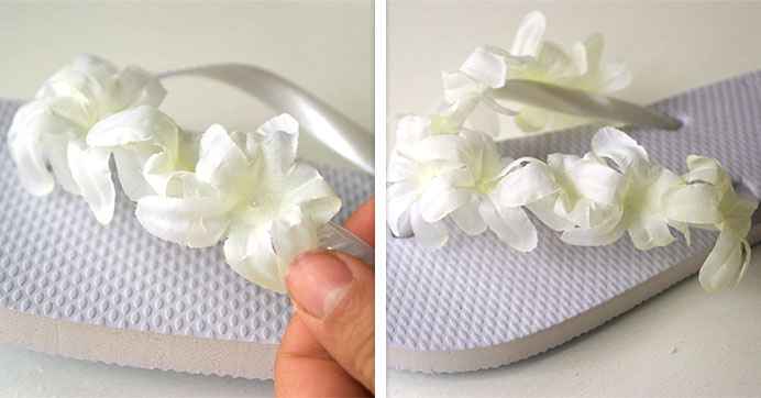 a25770688 How to Dress Up Dollar Tree s White Flip-Flops