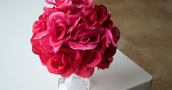 Faux Flower Wedding Ball Centerpieces