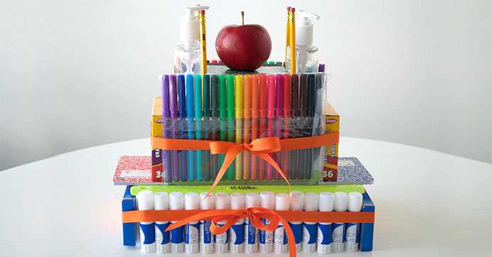 DIY Back to School Supply Cake Tutorial