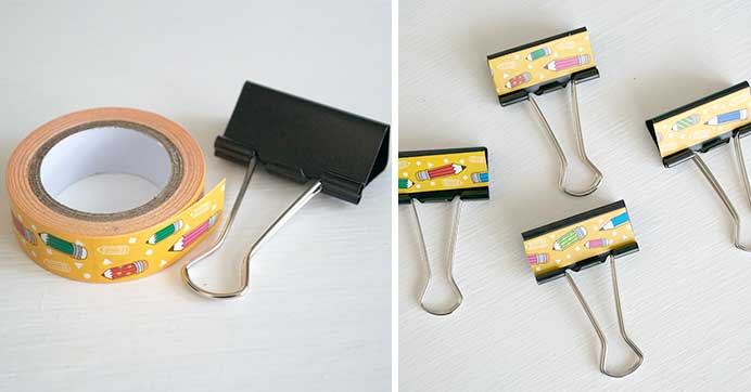 Craft Tape Binder Clips