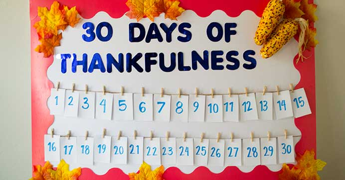 Thankfulness Board