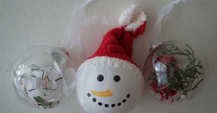 DIY Clear Ball Ornament Ideas for Christmas
