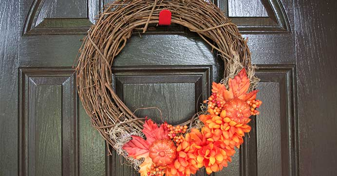 DIY Autumn Willow Wreath