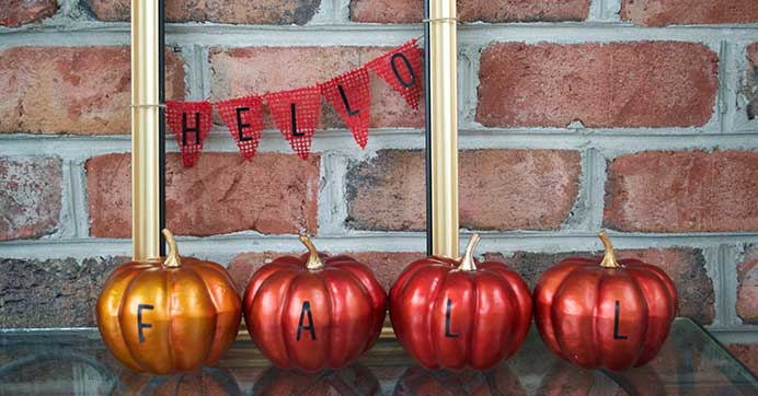 Fall Mantel Display