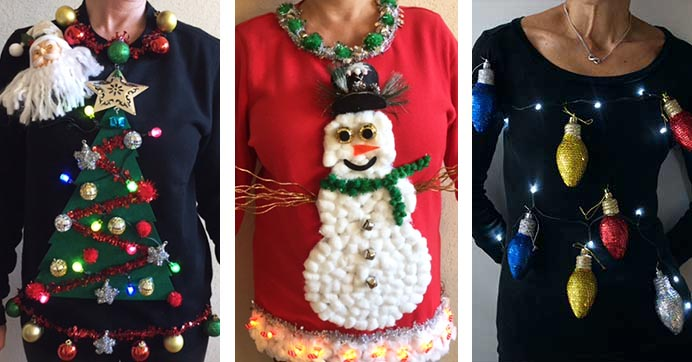 tacky christmas sweater ideas - How To Decorate A Ugly Christmas Sweater