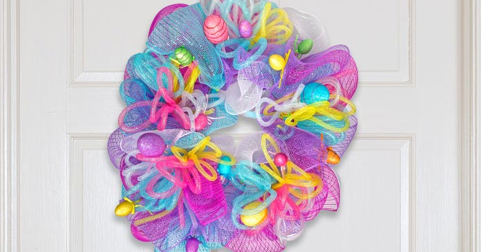 ab404e1fd EGG-ceptionally Easy Easter Deco Mesh Wreath
