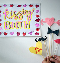 Valentine's Day Kissing Booth Photo Booth