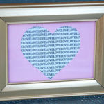 Framed Love Note