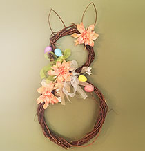 Rustic Bunny Willow Wreath