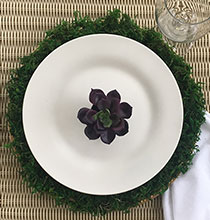 Moss-Covered Charger Plates