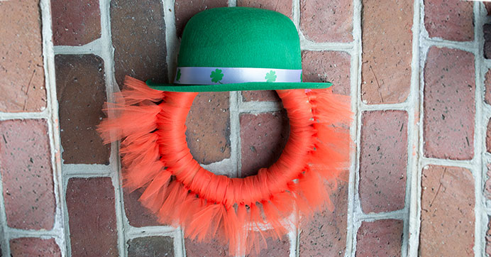 Leprechaun Wreath for St. Patrick's Day