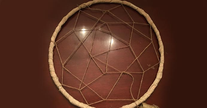 Wrap twine until you reach the center
