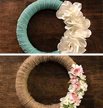 Wrapped Wreath Ideas