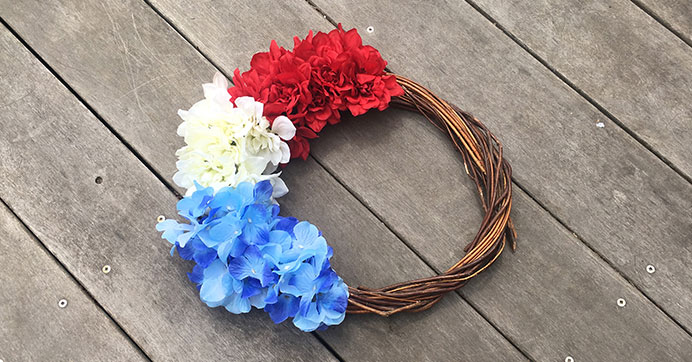 Patriotic Floral Wreath