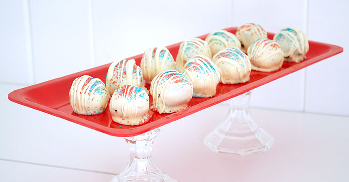 Fourth of July Cake Pops