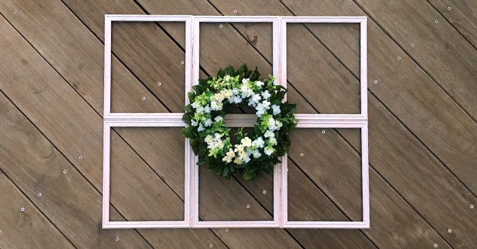 Farmhouse Window Decor on a Budget