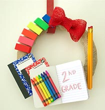 Back-to-School Wreath