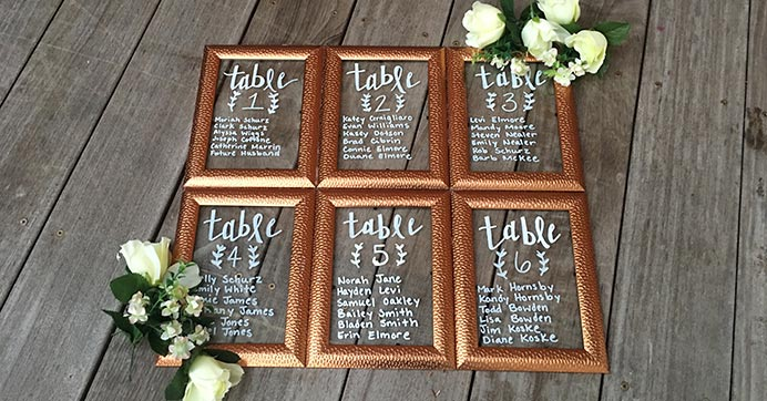 Framed Seating Chart for Weddings