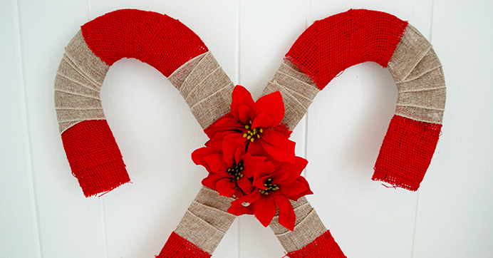 Double Candy Cane Wreath