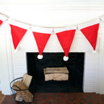 DIY Santa Hat Garland