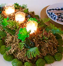 Moss-Inspired Tablescape