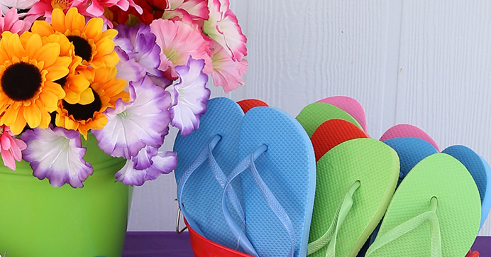 Flip-Flop Decorating Bar