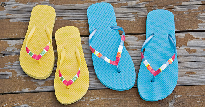 Colored Block Flip-Flops