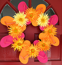 Flourishing Flip-Flop Wreath