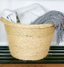 DIY Rope Blanket Basket