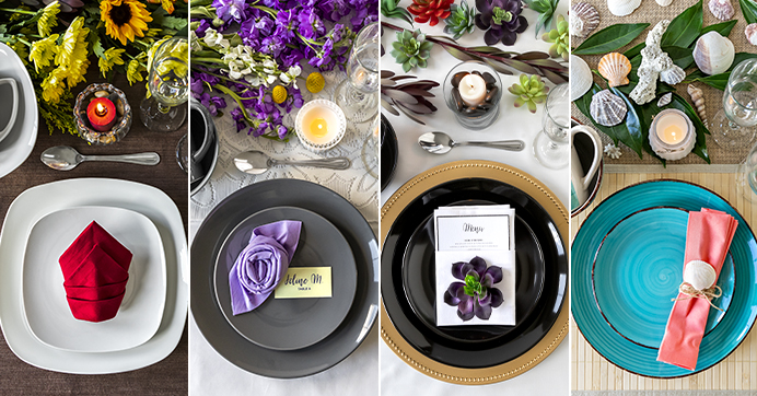 charger table settings