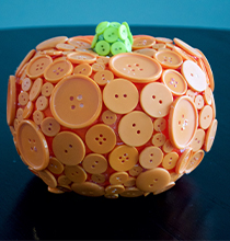 Button-Covered Pumpkin