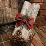 Faux Wood Birch Logs