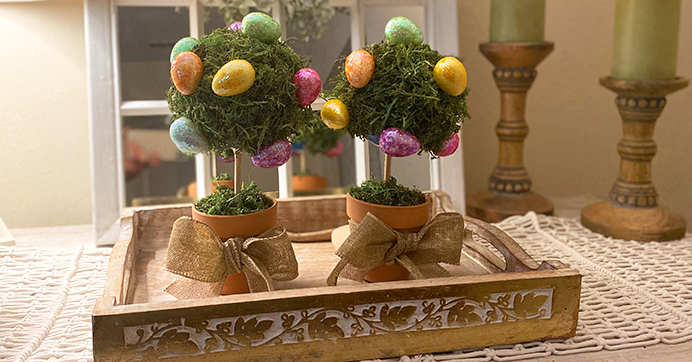 Easter Egg Topiaries