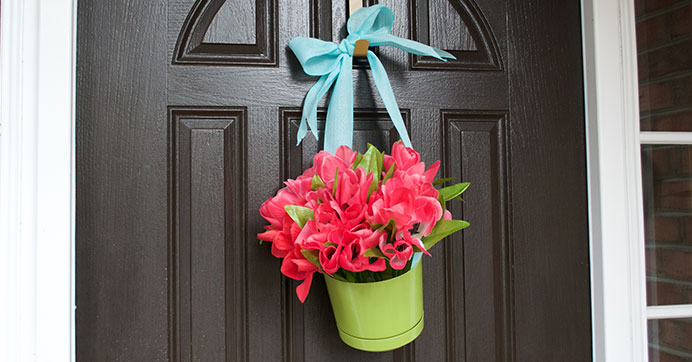 Floral Pot Wreath