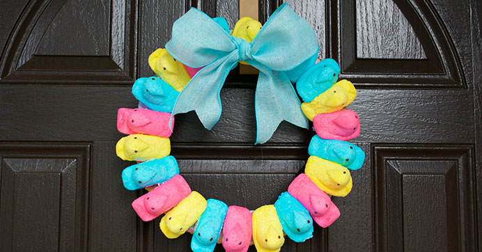 Peep Wreath Idea