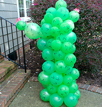 Adorable Balloon Cactus Idea