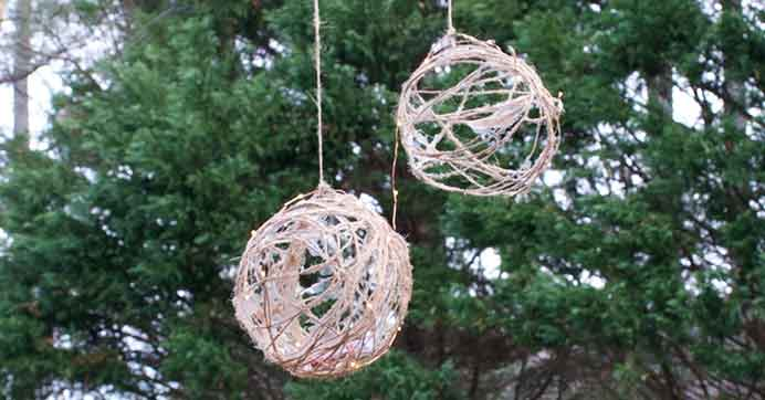 Light-Up Twine Orbs