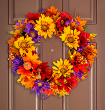 Vibrant Fall Wreath
